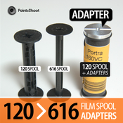 Image of 120 to 616 film spool adapters