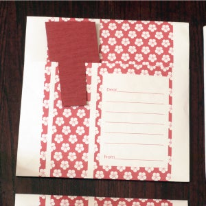 Image of Origami Note Envelope: #M2S2 (red)