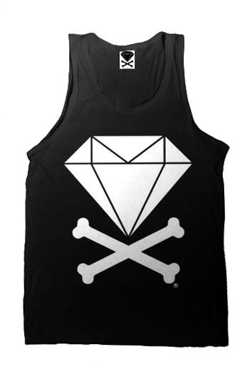 Image of Diamond & Crossbones Tank Top (Black)