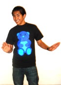 Image of Gary Gummy Bear Tee Black/Blue Color