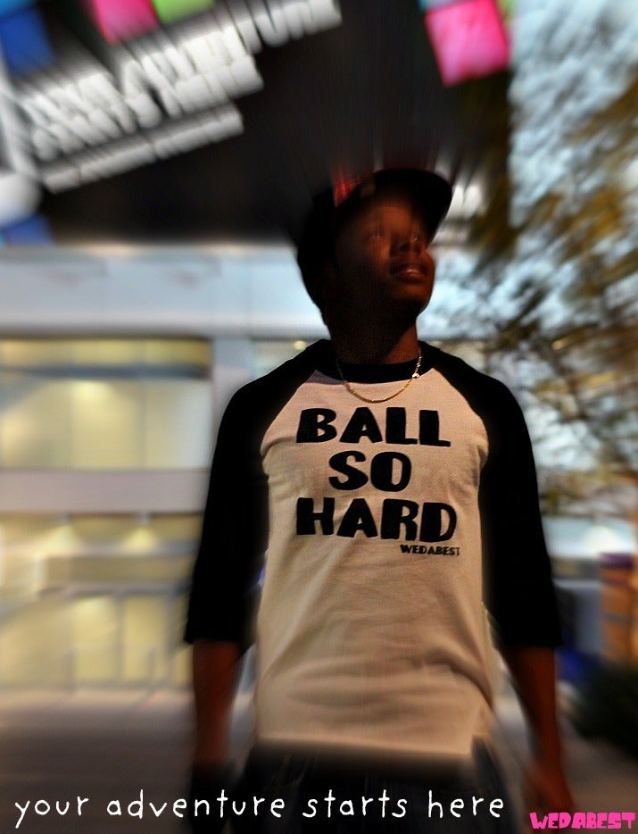 Image of BALL SO HARD (BASEBALL TEE ) EXCLUSIVE FAM