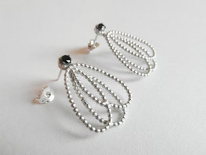 Image of Pearl Collection - Hanging Onyx Earrings