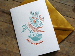 "Image of Carte ""Life is aquatic"""