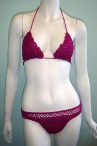Image of Raspberry Crochet Bikini