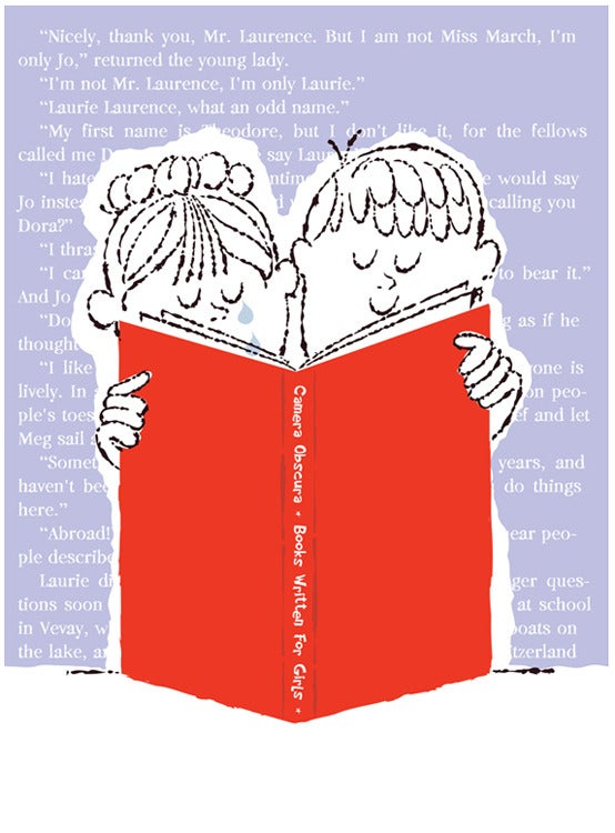 Image of He Likes To Read Books For Girls Art Print
