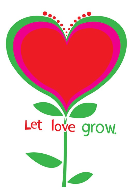 Image of Let Love Grow Silkscreen Art Print