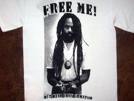 "Image of ""Free Me"" Tee (Mumia Abu Jamal)"
