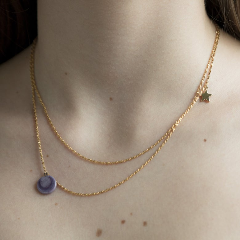 Image of Collier 1 Pastille Or