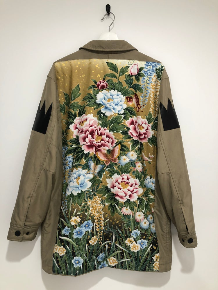 Image of Floral Trench Coat