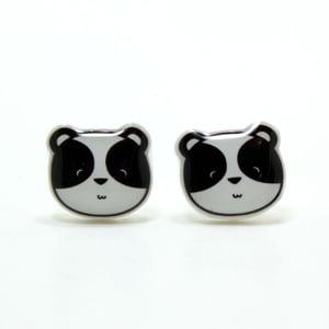 Image of Panda Earrings - Sterling Silver Posts