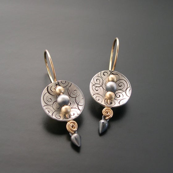 Image of Swirl Shield Earrings
