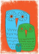 Image of We 3 Owls Good Morning Nursery Art Print
