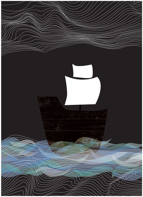 Image of Ghost Ship By Night Art Print