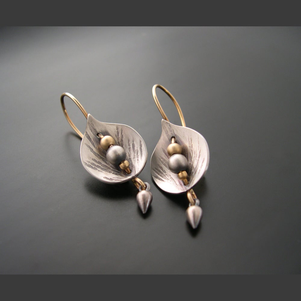 Image of Leaf Shield Earrings *click for options*