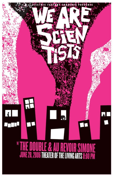 Image of We Are Scientists Poster - ALMOST sold out