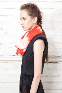 Image of no. 313 hand dyed silk scarf