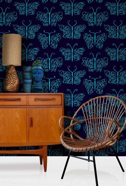 Image of Camberwell Beauty Wallpaper - Midnight