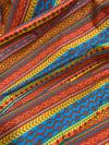 arizona desert multi geometric printed cotton fabric