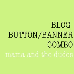 Image of blog banner and button combo