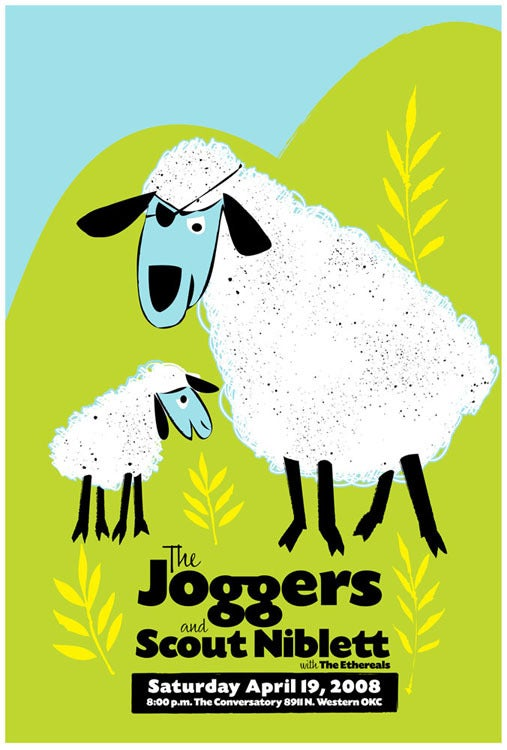 Image of The Joggers & Scout Niblett Show Poster