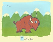 Image of Y is for Yak Alphabet Nursery Print