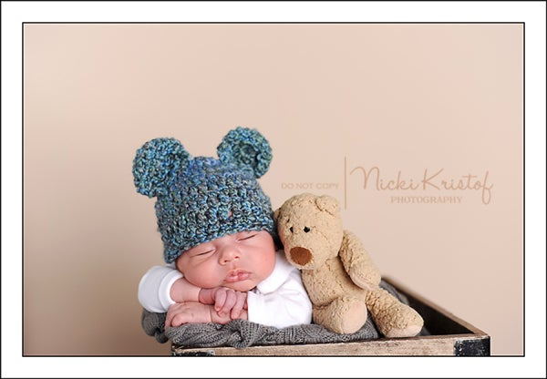 Image of Blue Homespun Bear