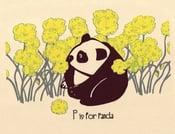 Image of P is for Panda Alphabet Nursery Print