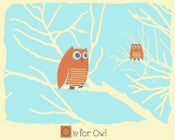 Image of O is for Owl Alphabet Nursery Print