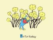 Image of M is for Monkey Alphabet Nursery Print