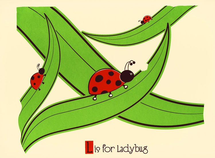 Image of L is for Ladybug Alphabet Nursery Print