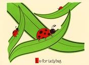 Image of L is for Ladybug Alphabet Nursery Print