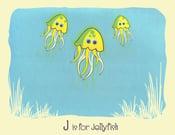 Image of J is for Jellyfish Alphabet Nursery Print