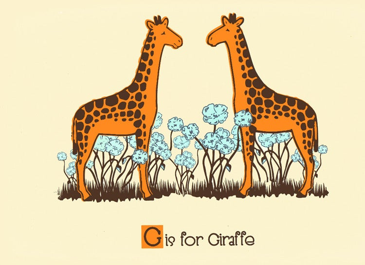 Image of G is for Giraffe Alphabet Nursery Print