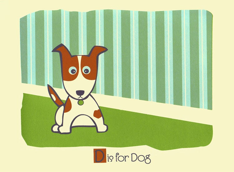 Image of D is for Dog Alphabet Nursery Print