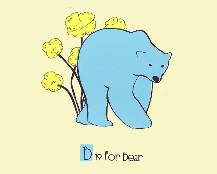 Image of B is for Bear Alphabet Nursery Print