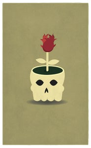 Image of Skull Pot Illustration