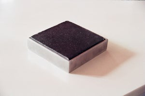 Image of Small black cement tile coaster