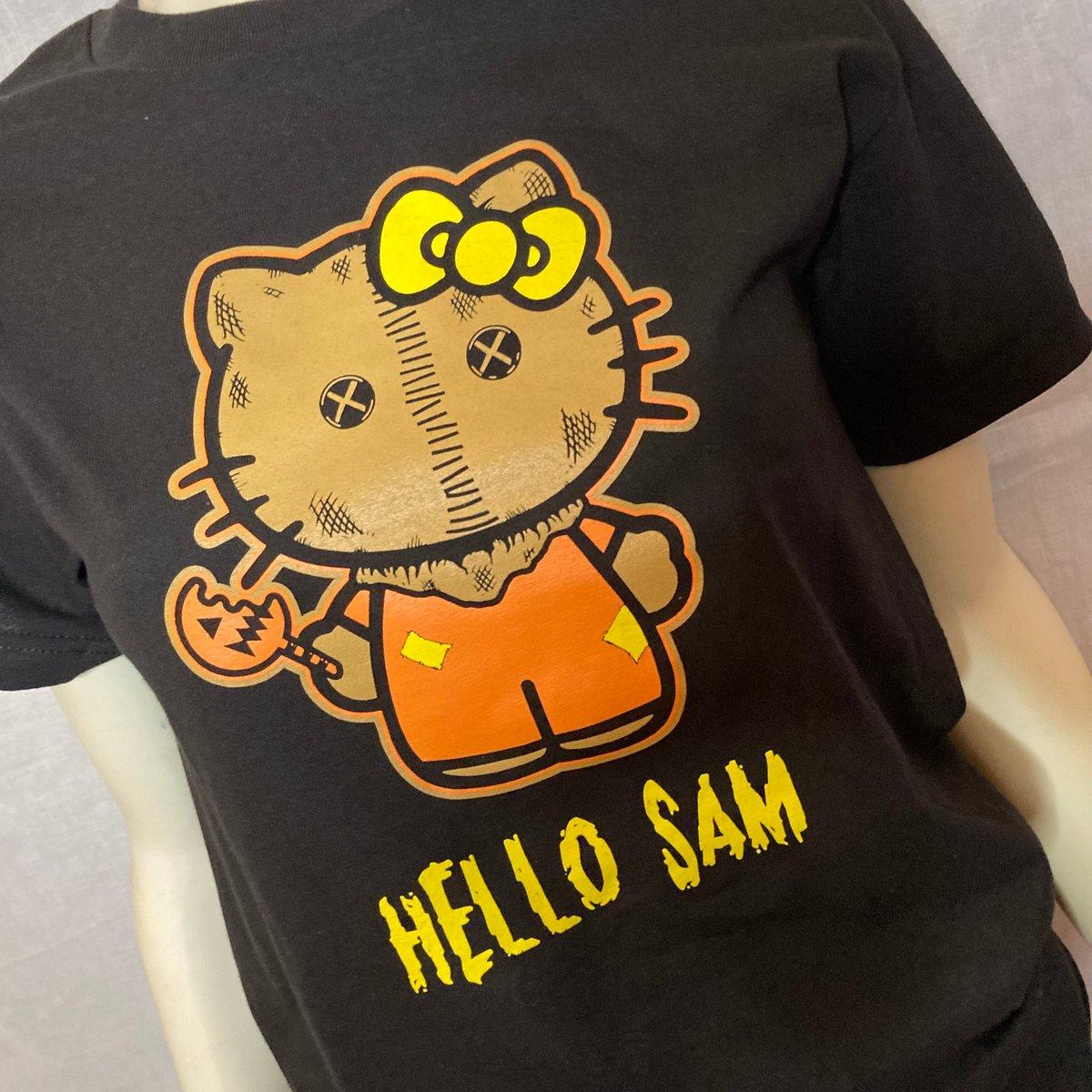 """Unisex """"Hello Sam"""" Black Tee"""