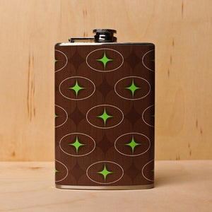 Image of Wood Ovals Flask