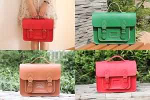Image of Handmade Genuine Leather Satchel / Messenger Bag / Backpack (s1-2)