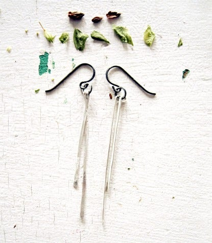 Image of silver stem earrings
