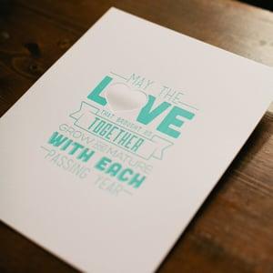 Image of 'L♥VE' • letterpress print