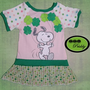 Image of Snoopy St. Patrick's Day Dress – Size 12-18m