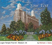 Image of Logan Utah LDS Mormon Temple Art Painting by Michael Seely