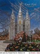 Image of Salt Lake City Utah LDS Mormon Temple Art Painting by Michael Seely