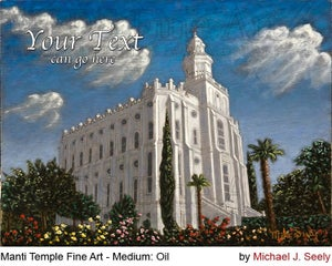 Image of St George Utah LDS Mormon Temple Art Painting by Michael Seely