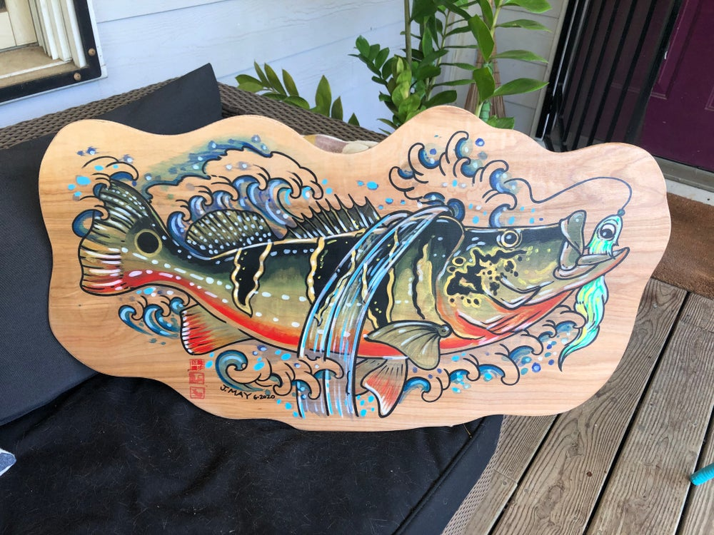 Custom wood cutout Fish Paintings by Commission (DEPOSIT)