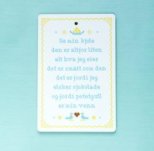 "Image of ""Se min kjole"" cutting board"