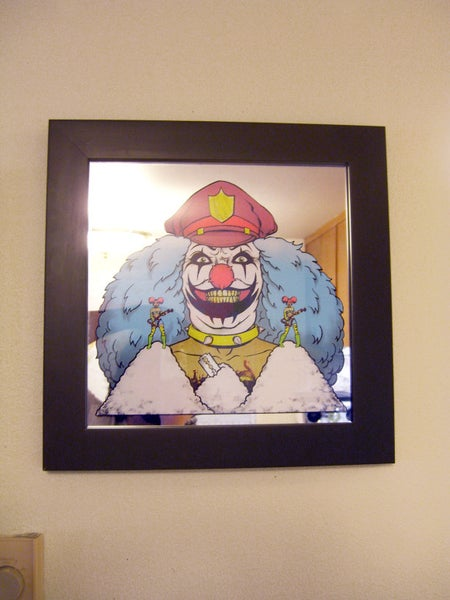 "Image of  ""I DO COCAINE"" Mirror screen print FRAMED!!!!"