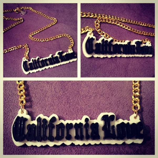 Image of Cheryl's Dope Tupac California Love Necklace
